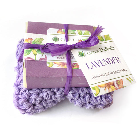 Soap + Washcloth Set - Lavender