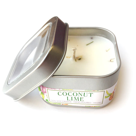 Natural Soy Candle - Coconut Lime
