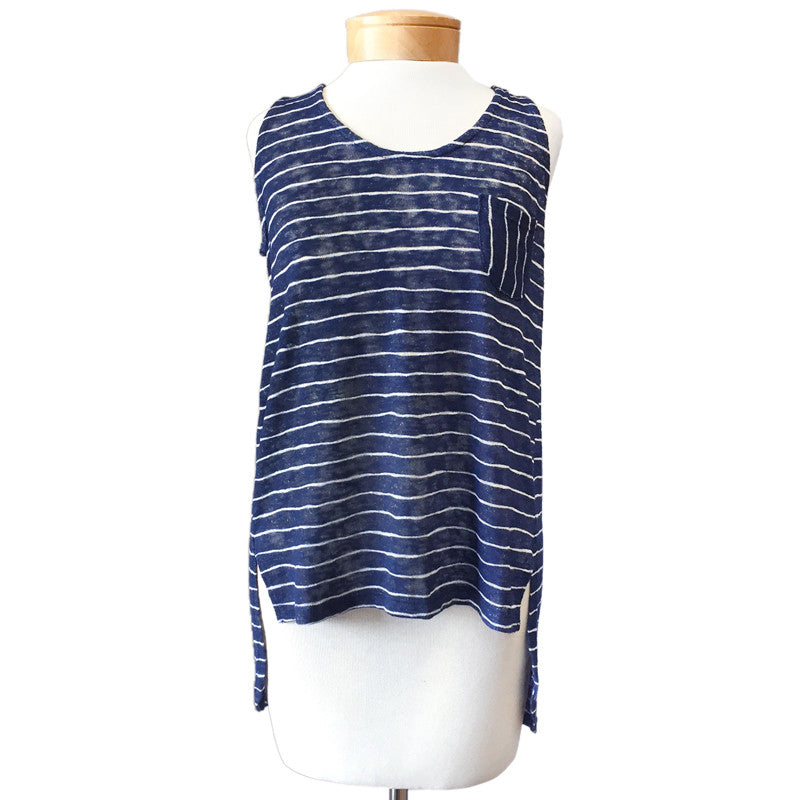 Striped Hi-Low Tank