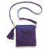 Metallic Navy Blue Laser Cut Cross Body Bag