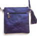 Laser Cut Cross Body - Metallic Navy