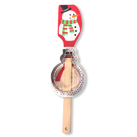Christmas Holiday Spatula Cookie Cutter Baking Gift Set Snowman Tree Gingerbread Man Santa Savvy Chic Boutique Cleveland Ohio