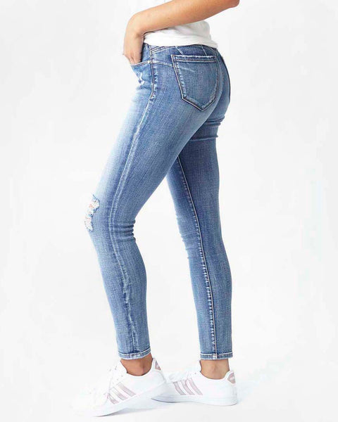 Jag Jeans Cecilia Distressed Mid Vintage Skinny Denim Savvy Chic Boutique Cleveland Ohio