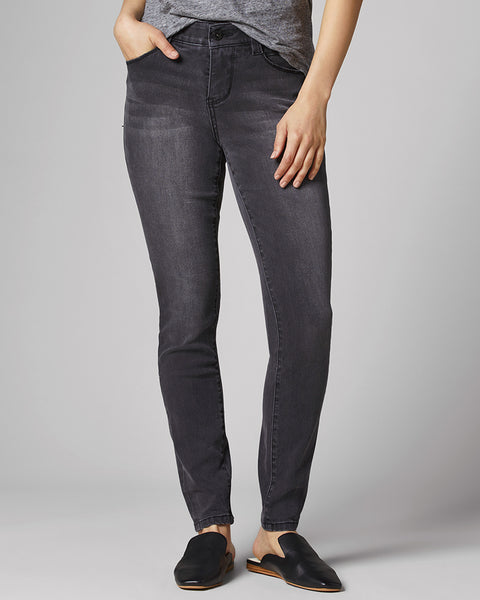 Jag Cecilia Grey Coal Wash Skinny Jean Stretch Denim
