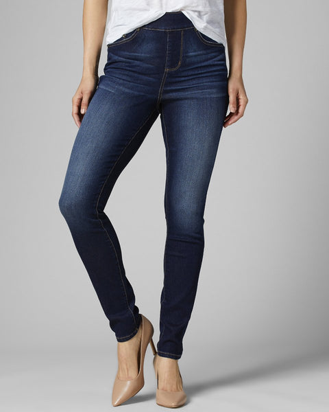 Jag Jeans Maya Skinny Dark Baltic Blue Wash Pull On Stretch Denim Bottoms Savvy Chic Boutique Cleveland Ohio