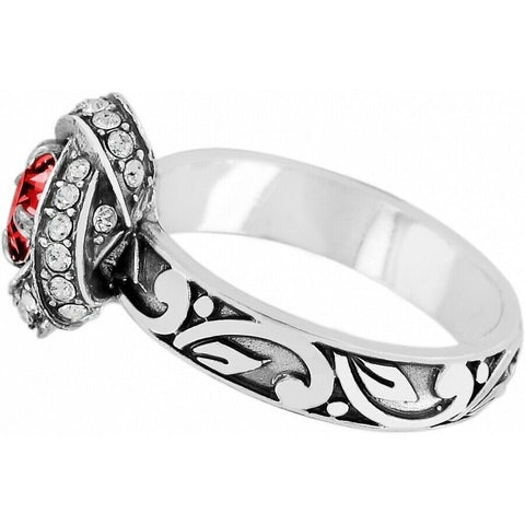 Ruby Eternity Knot Ring