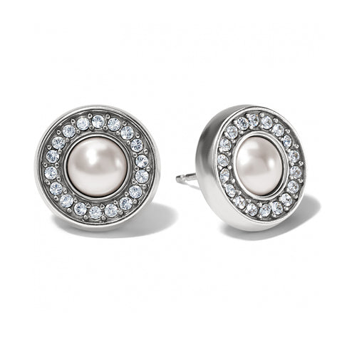 Meridian Pearl Silver Post Earrings