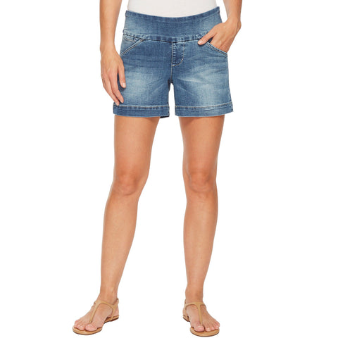 "Jag Jeans Ainsley Pull On Short Horizon Blue 5"" Inseam Denim Savvy Chic Boutique Cleveland Ohio"