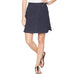 Jag Jeans On the Go Poplin Skort Navy Pull On Stretch Savvy Chic Boutique Cleveland Ohio