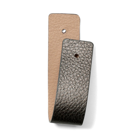 Christo Narrow Strap - Pewter/Sand