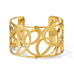 Gold Christo Vienna Wide Cuff Bracelet