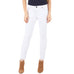 But from the Kloth Reese Ankle Straight Leg White Denim Jean Frayed Hem