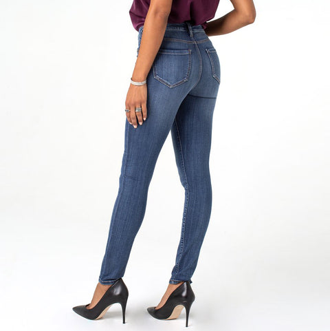 Liverpool Abby Skinny Jean Victory Wash Mid Rise Savvy Chic Boutique Cleveland Ohio