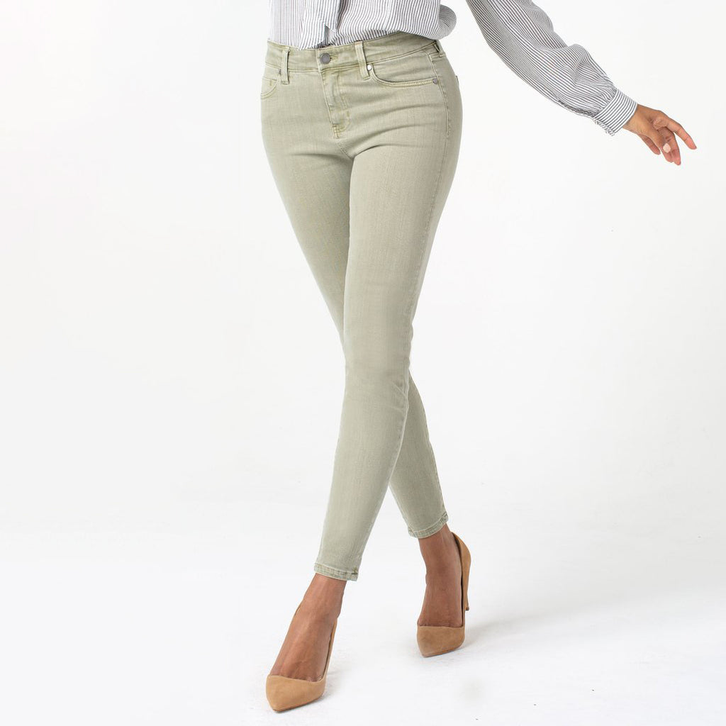 Liverpool Penny Ankle Skinny Jean Reseda Green Savvy Chic Boutique Cleveland Ohio