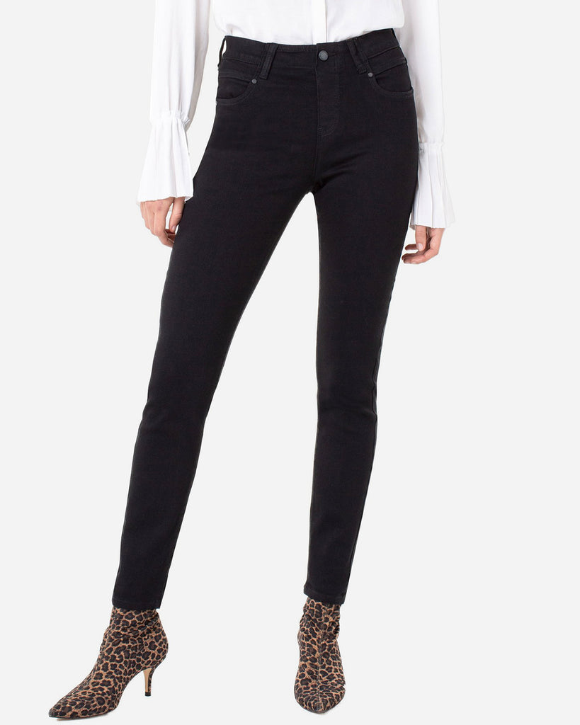 Liverpool Gia Glider Skinny Pull On Black Rinse Jean Denim Full Length Savvy Chic Boutique Cleveland Ohio