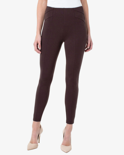 Liverpool Reese Seamed Legging Black Coffee Dark Brown Stretch Pull On Savvy Chic Boutique Cleveland Ohio