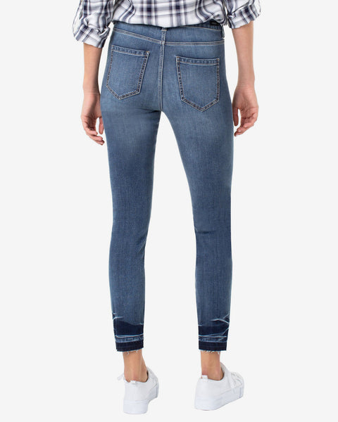 Liverpool Abby High-Rise Ankle Skinny Jean Released Hem Light Wash Cropped Stretch Denim Savvy Chic Boutique Cleveland Ohio