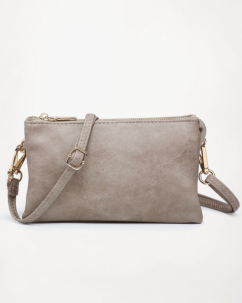 Jen & Co Grey Stone Vegan Faux Leather Wristlet Crossbody Handbag Savvy Chic Boutique Cleveland Ohio