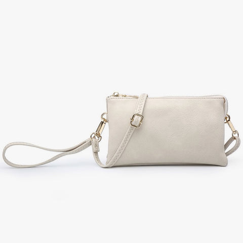 Jen & Co Cream Ivory Wristlet Crossbody Clutch Handbag Vegan Faux-Leather Savvy Chic Boutique Cleveland Ohio