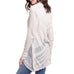 Mystree Light Grey Jacquard Mesh Knit Cardigan