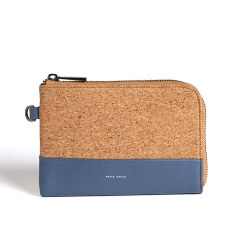 Cameron Key Wristlet - Midnight/Cork