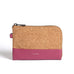 Cameron Key Wristlet - Red Bean/Cork