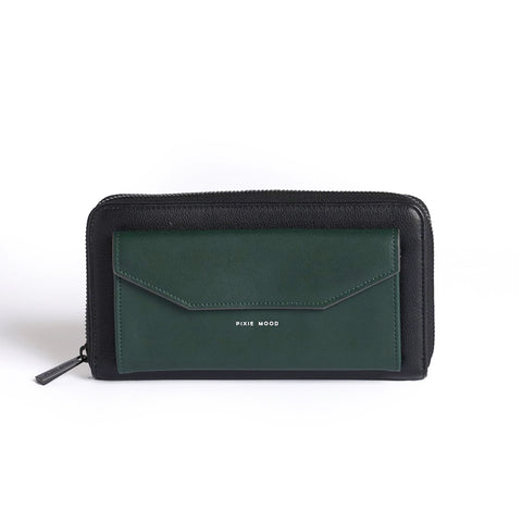 Frances Zip Around Wallet - Black