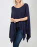 Simply Noelle Navy Blue Knit Poncho Sweater Savvy Chic Boutique Cleveland Ohio