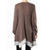 Ryu Brown Mauve White Rose Knit Long Sweater Cardigan Savvy Chic Boutique Cleveland Ohio