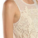 A'revs Cream Ivory Sheer Crochet Floral Tank Top Savvy Chic Boutique Cleveland Ohio