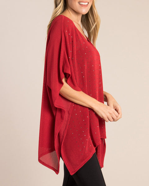 Studded Top - Red