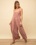 Rose Mauve Wide Leg Jumpsuit Romper Savvy Chic Boutique Cleveland Ohio