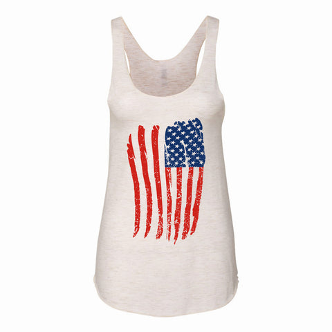 USA American Flag Distressed Graphic 4th of July Red White Blue Tank Top Savvy Chic Boutique Cleveland Ohio