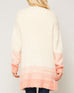 Promesa Cream Peach Ombre Soft Knit Sweater Cardigan Savvy Chic Boutique Cleveland Ohio