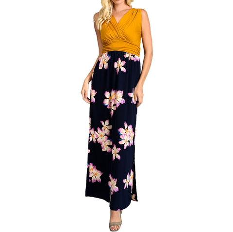 Tropical Floral Maxi - Mustard