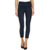 Lysse Denim Indigo Cuffed Zip Crop Stretch Legging Jegging High Waist Savvy Chic Boutique Cleveland Ohio