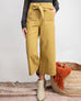 Lime Green High Wait Tie Belt Cropped Wide Leg Pants Trousers Savvy Chic Boutique Cleveland Ohio