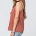 Entro Salmon Rust Button Down Tank Camisole Top Savvy Chic Boutique Cleveland Ohio