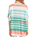 Entro Mint Coral Stripe Criss Cross Top Savvy Chic Boutique Cleveland Ohio
