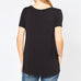 Entro Black V Neck Pocket Tee T Shirt Top Savvy Chic Boutique Cleveland Ohio