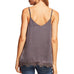 Intro Grey Charcoal Lace Satin Camisole Tank Top Savvy Chic Boutique Cleveland Ohio