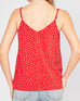 Entro Red White Polka Dot Lace Camisole Cami Tank Top Savvy Chic Boutique Cleveland Ohio
