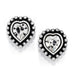 Shimmer Heart Mini Post Earrings