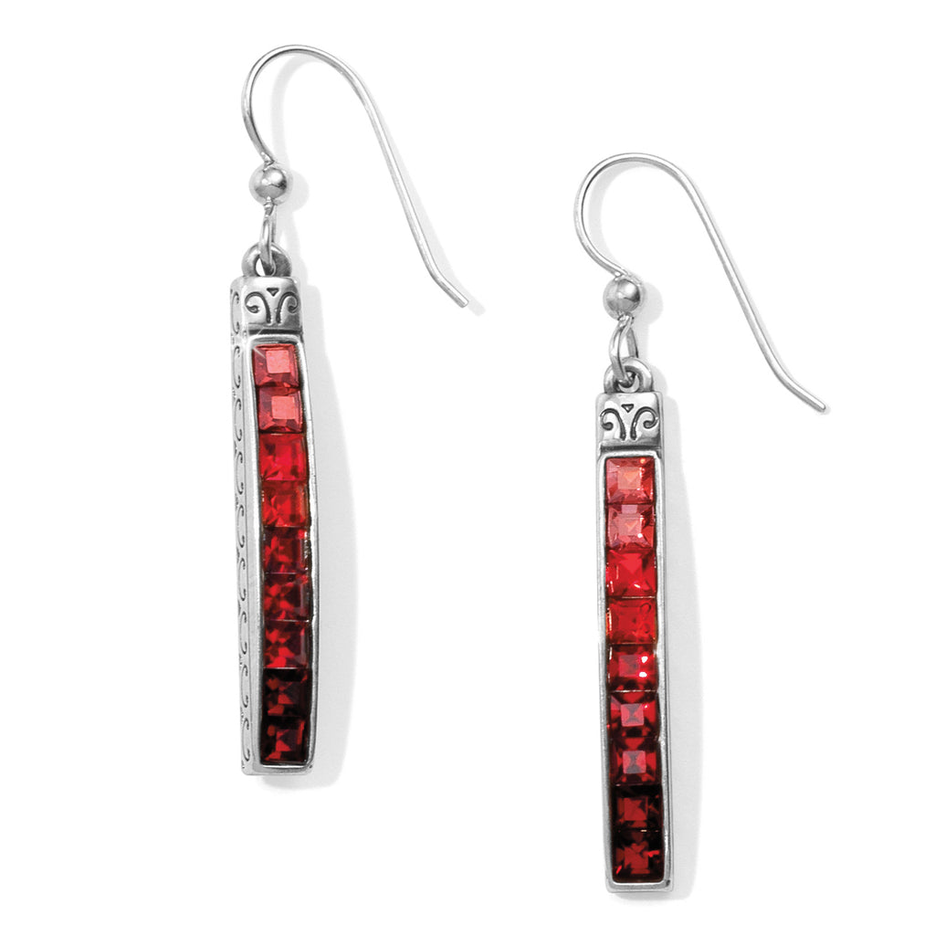 Spectrum French Wire Earring - Red