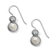 Infinity Pearl French Wire Earrings