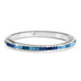 Spectrum Hinged Bangle - Blue