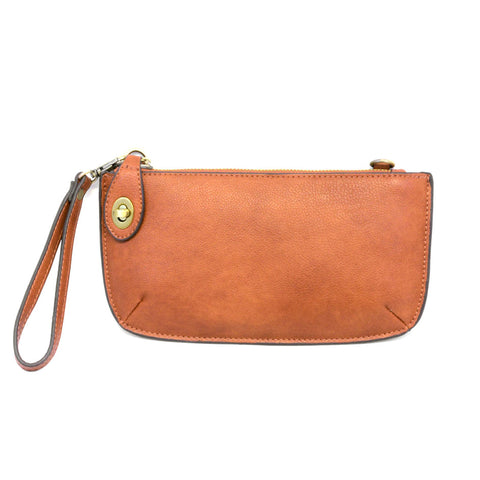 Joy Susan Mini Crossbody Clutch Wristlet Hand Bag Maple Brown Tan Faux Leather Savvy Chic Boutique Ohio