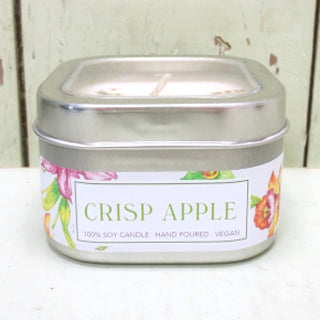 Green Daffodil Natural Vegan Soy Apple Candle
