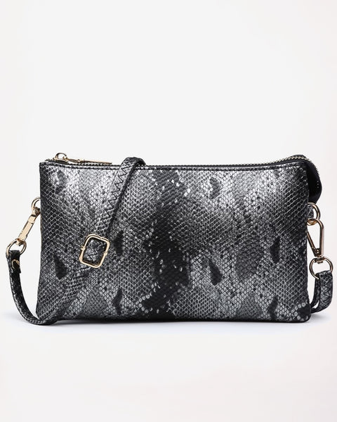 Simple Kind of Life Bag - Gunmetal Python