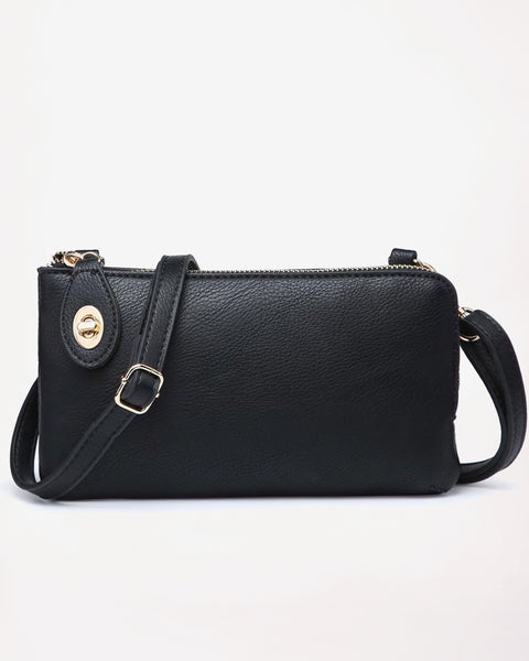 Jen & Co Black Snake Vegan Faux Leather Crossbody Wristlet Purse Savvy Chic Boutique Cleveland Ohio